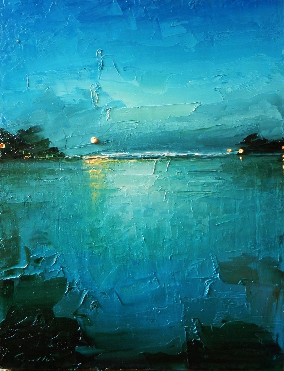 Conosciuto Mare in Tempesta, dipinto a spatola di Davide Sigillò GB25